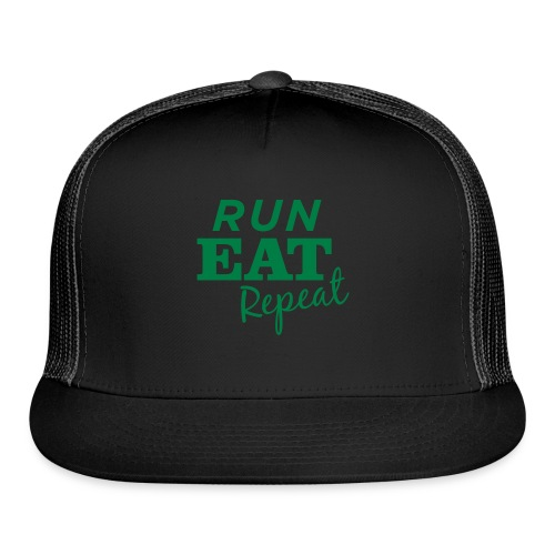 Run Eat Repeat buttons medium - Trucker Cap