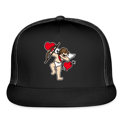 Dabbing Cupid For Valentines Day Gift T shirts - Trucker Cap