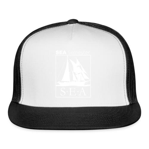 SEA_logo_WHITE_eps - Trucker Cap