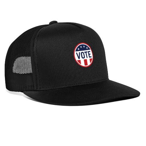 Vote Red White and Blue Stars and Stripes - Trucker Cap
