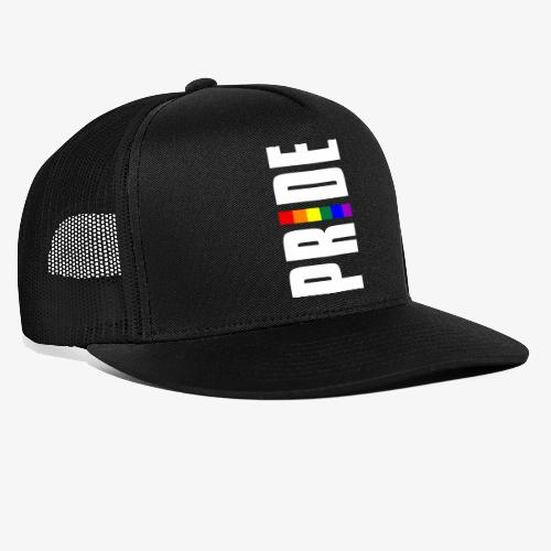 Vertical Pride with LGBTQ Pride Flag - Trucker Cap