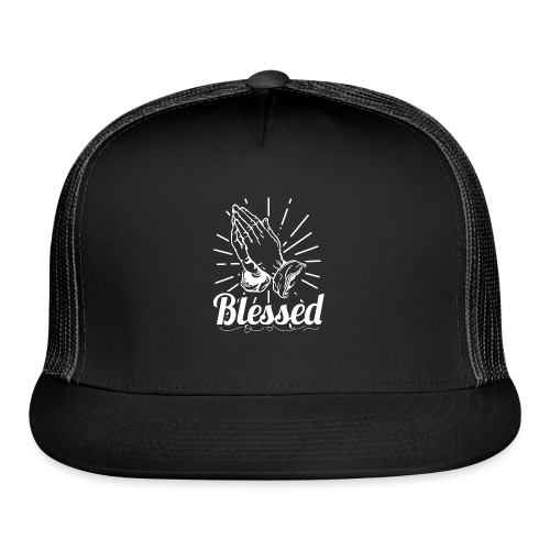 Blessed (White Letters) - Trucker Cap