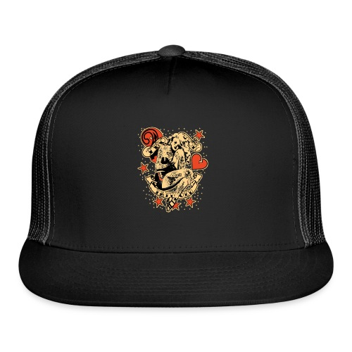 Screwed & tattooed Pin Up Zombie - Trucker Cap
