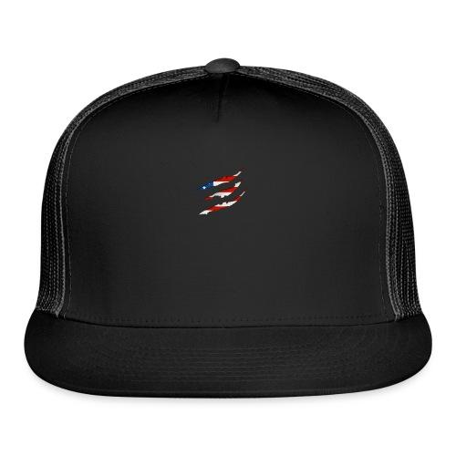 3D American Flag Claw Marks T-shirt for Men - Trucker Cap