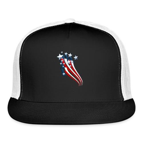 Sweeping American Flag - Trucker Cap