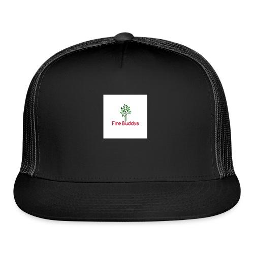 Fire Buddys Website Logo White Tee-shirt eco - Trucker Cap