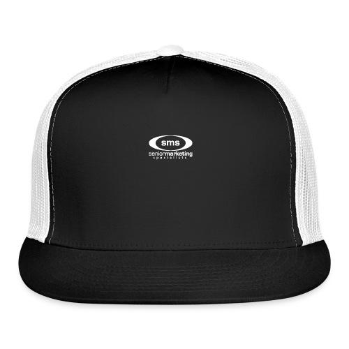 SMS White Logo - Trucker Cap
