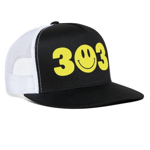 3 Smiley 3 - Trucker Cap