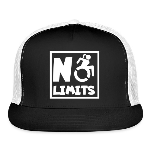 No limits for this female wheelchair user - Trucker Cap