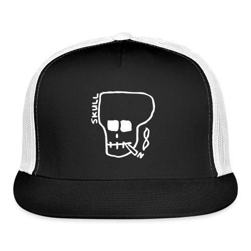 Smoking skull - Trucker Cap