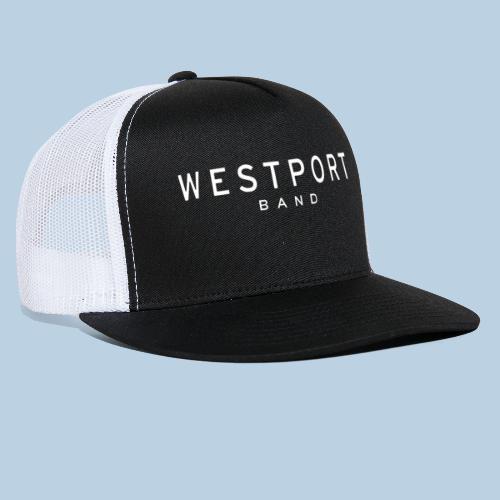Westport Text White on transparent - Trucker Cap