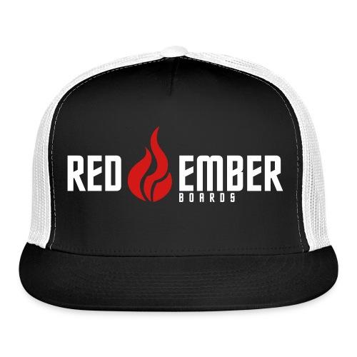 redEmber flame logo in red/black - Trucker Cap