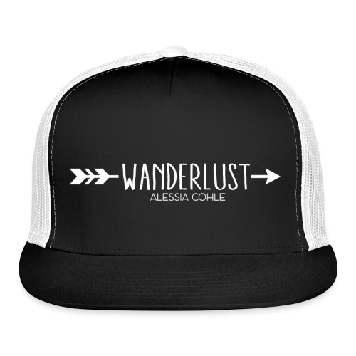 Wanderlust (white logo) - Trucker Cap