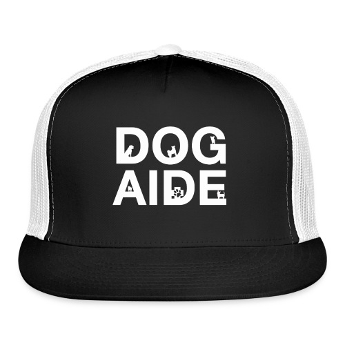 dog aide NEW white - Trucker Cap