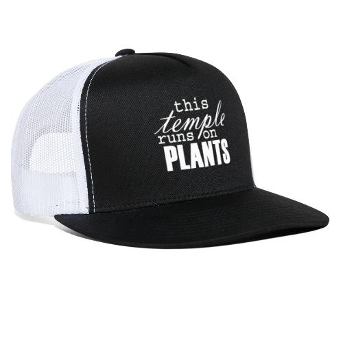 This temple runs on plants - Trucker Cap