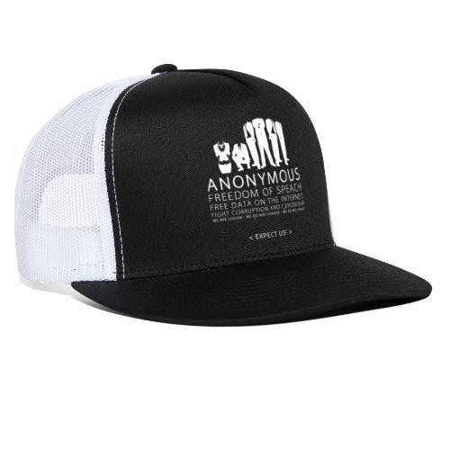 Anonymous 2 - White - Trucker Cap
