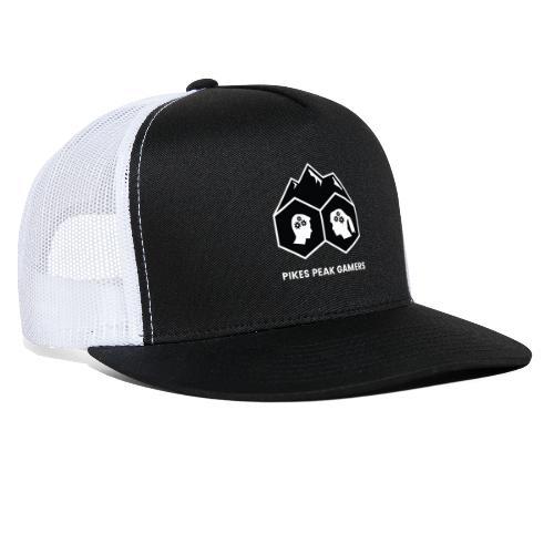 Pikes Peak Gamers Logo (Solid Black) - Trucker Cap