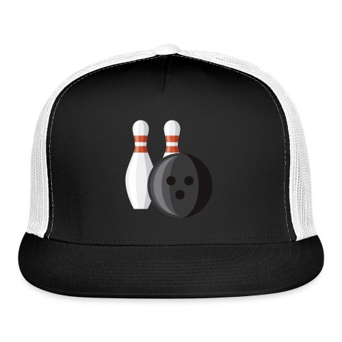 Bowling Ball and Pins - Trucker Cap