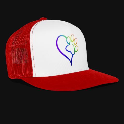 Paw Print on my Heart Rainbow Bridge - Trucker Cap