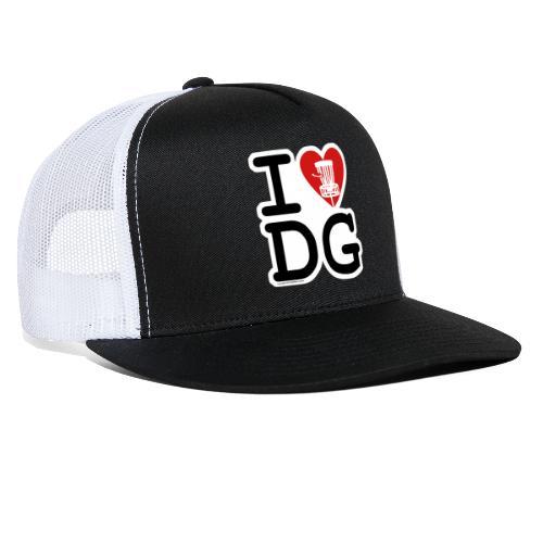 I Love (Heart) Disc Golf Shirt & Accessories - Trucker Cap