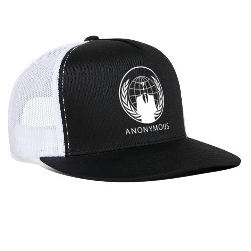 Anonymous 1 - White - Trucker Cap