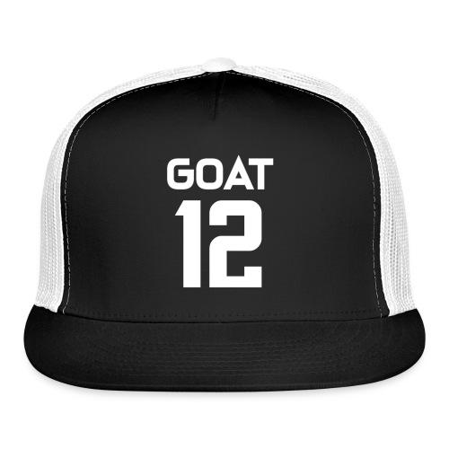 New England Brady GOAT 12 Football - Trucker Cap