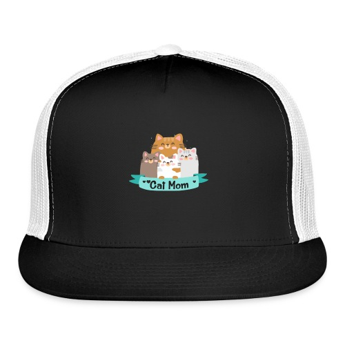 Cat MOM, Cat Mother, Cat Mum, Mother's Day - Trucker Cap