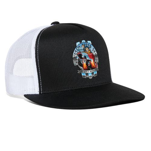 Custom Speed Shop Hot Rods and Muscle Cars Illustr - Trucker Cap