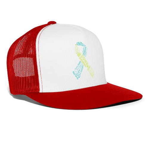 Down syndrome Ribbon Wordle - Trucker Cap