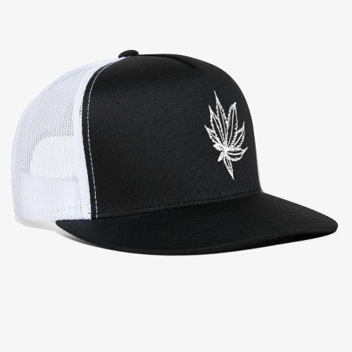 white leaf - Trucker Cap