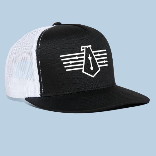 Westport Bird White on transparent - Trucker Cap
