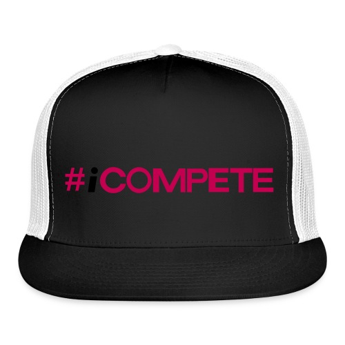 icompete_logo_final_outli - Trucker Cap