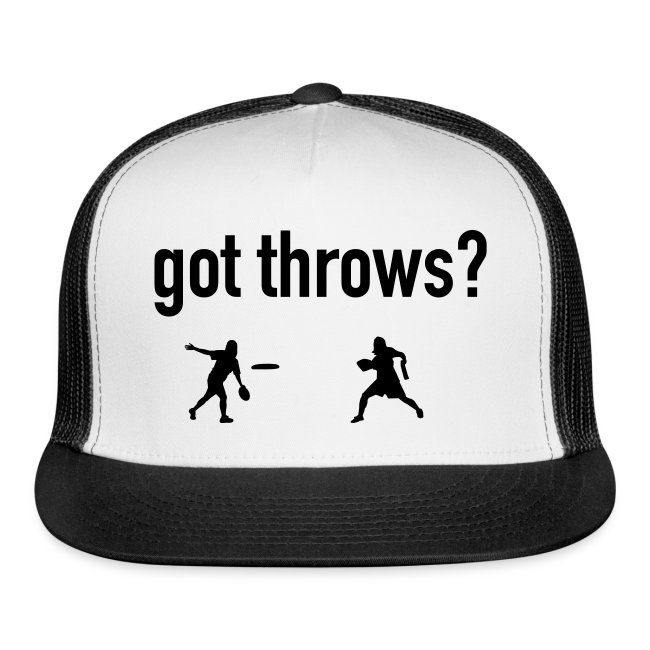 Ultimate Frisbee Hat Got Throws?