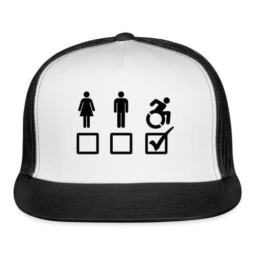 A wheelchair user is also suitable - Trucker Cap