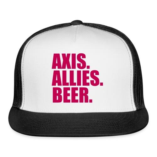 Axis. Allies. Beer. Axis & Allies - Trucker Cap