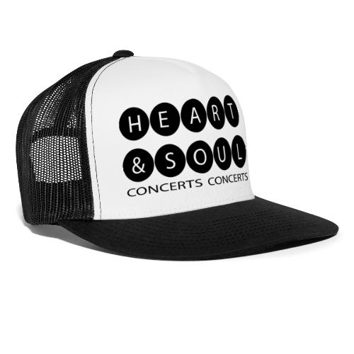 Heart & Soul Concerts Black Bubble Horizon - Trucker Cap