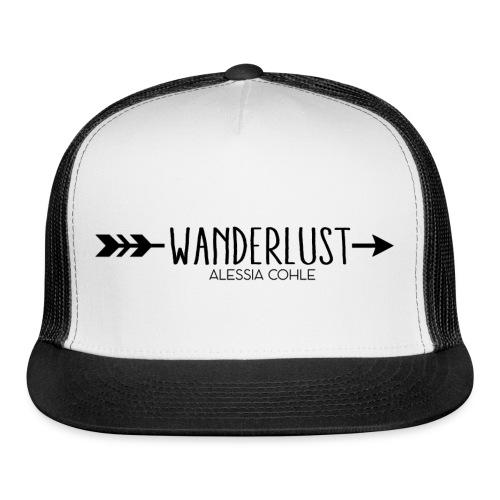 Wanderlust (black logo) - Trucker Cap