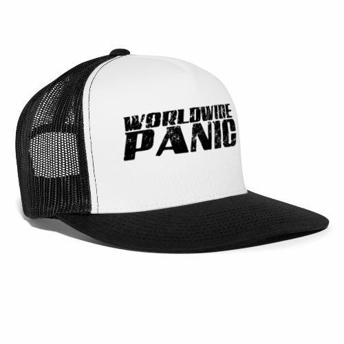 Worldwide Panic Logo Black - Trucker Cap