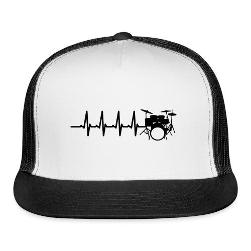 Drums Heartbeat Funny drummer - Trucker Cap