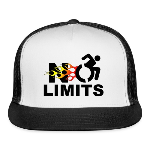 No limits for me with my wheelchair - Trucker Cap