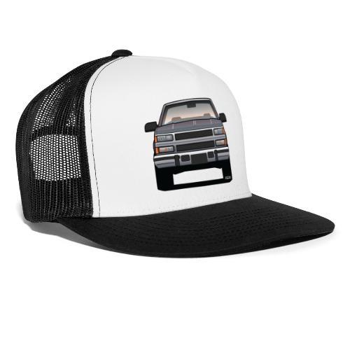 Design Icon: American Bowtie Silver Urban Truck - Trucker Cap