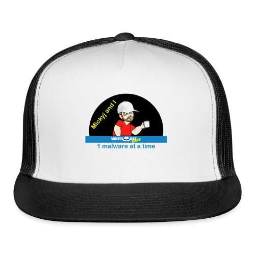 Mickyj - One Malware at a time (White) - Trucker Cap