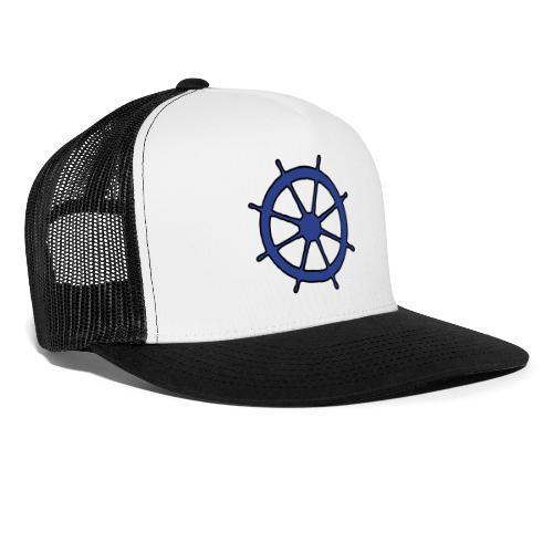Steering Wheel Sailor Sailing Boating Yachting - Trucker Cap