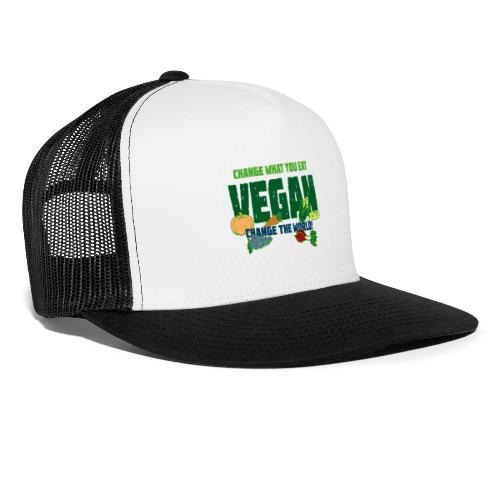 Change what you eat, change the world - Vegan - Trucker Cap