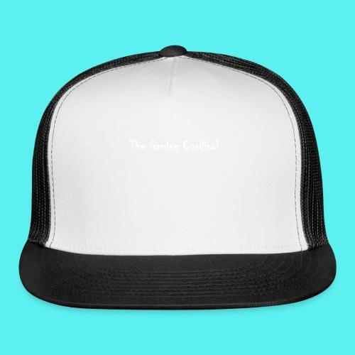 white logo text - Trucker Cap
