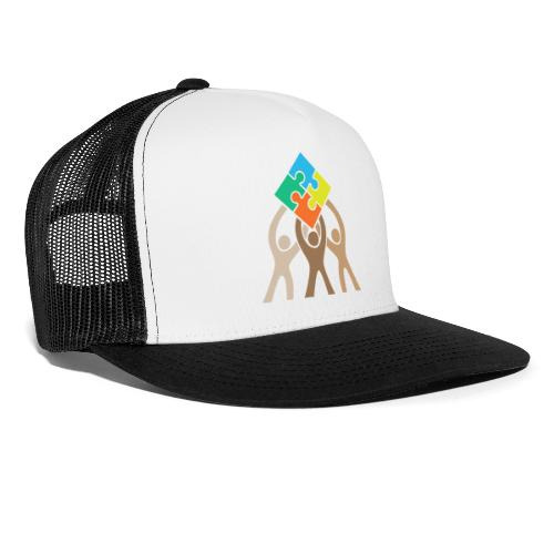 Teamwork and Unity Jigsaw Puzzle Logo - Trucker Cap