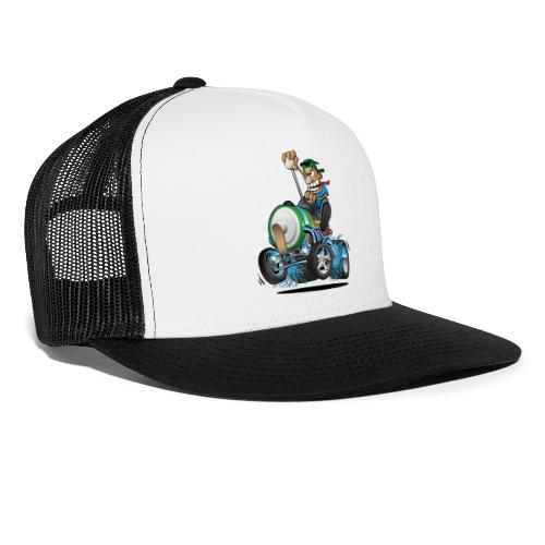 Hot Rod Electric Car Cartoon - Trucker Cap