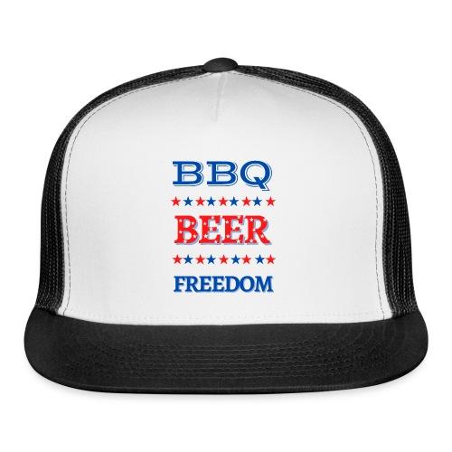 BBQ BEER FREEDOM - Trucker Cap