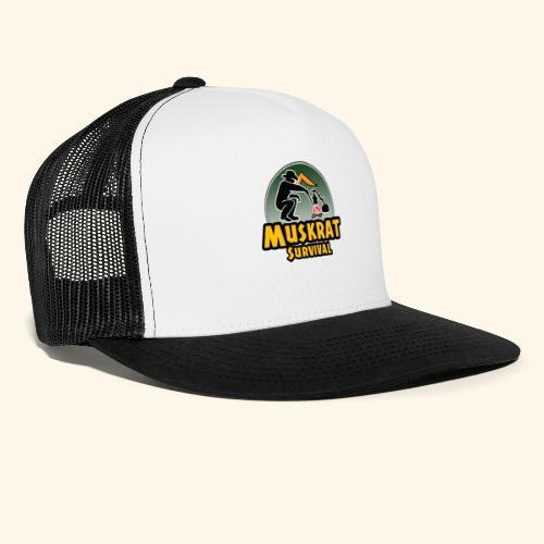 Muskrat round logo - Trucker Cap