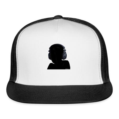 CD Music silhouette with headphones - Trucker Cap